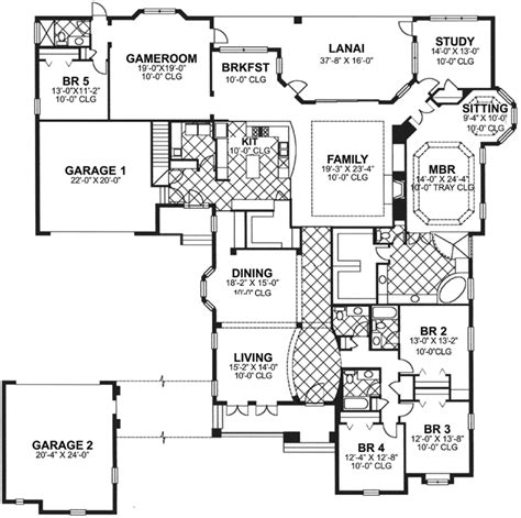 monster floor plans luxury style house plans 4575 square foot home 1 story