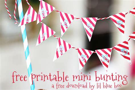 Mini Cake Bunting Printable