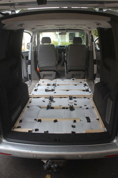 vw t5 rear raised floor and insulated vw