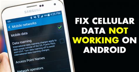 not working on android fixed how to fix cellular data not working on android