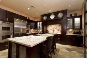 dark kitchen cabinets with light granite i like the dark cabinets with the light granite kitchen