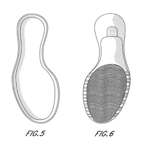 Bottom K Sketches by Patent Usd672541 Shoe Sole Patents