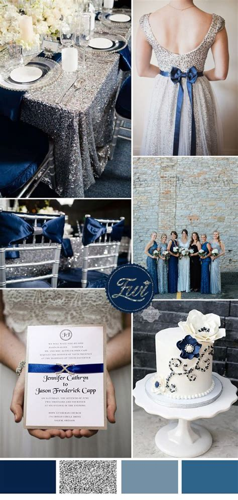 black blue and silver table settings wedding trends seven stunning wedding color ideas in