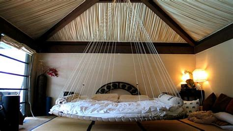 bed hanging from ceiling hanging bed interior designs