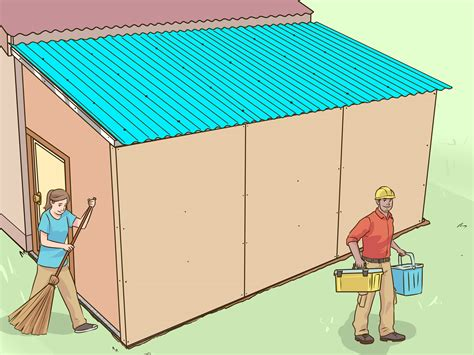 ways  add  lean    shed wikihow