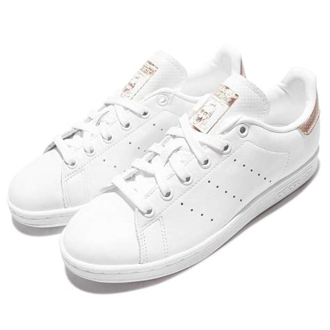 adidas originals stan smith w gold white leather classic shoes bb1434 ebay