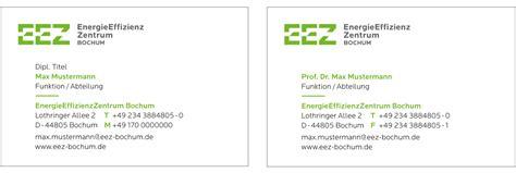 Visitenkarten Titel Bezeichnung by Energieeffizienz Zentrum Cd Marke Bochum