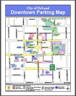 of florida parking map downtown deland parking deland area chamber of commerce fl
