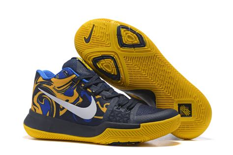 navy and white basketball shoes s nike kyrie 3 navy white yellow basketball shoes for
