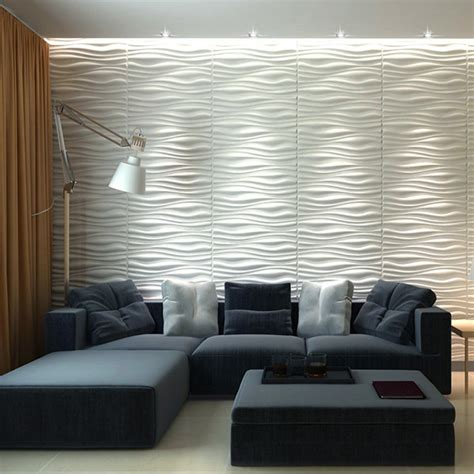 Peel And Stick Vinyl Tile Backsplash Decorative 3d Wall Panels 24 6 Quot X31 5 Quot Wave Board 6 Tiles