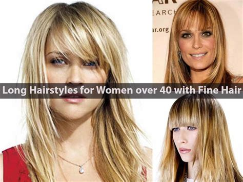 Haircuts For Women Over 40 With Fine Hair | long hairstyles for women over 40 with fine hair