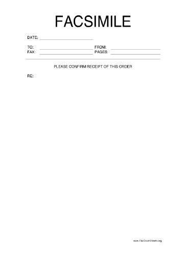 fax receipt confirmation template confirm this order fax cover sheet at freefaxcoversheets net