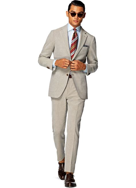 Light Brown Suit by Suit Light Brown Plain P4245i Suitsupply Store