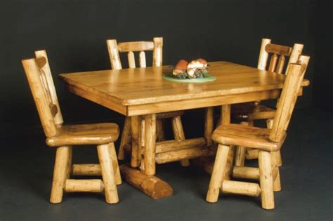 log trestle table rustic cabin tables
