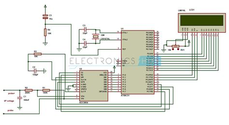voltmeter in circuit diagram digital voltmeter circuit using 8051 analog to digital