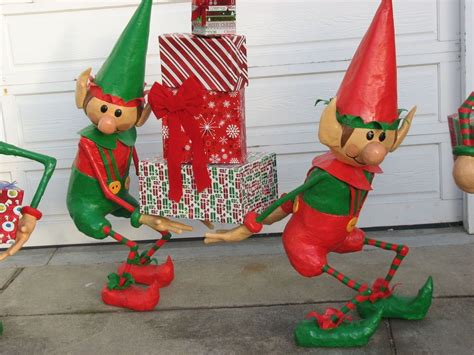 set of three pixie elves frontgate outdoor christmas decorations decorations outdoor www indiepedia org