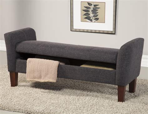 grey storage bench coaster 500070 grey fabric storage bench steal a sofa