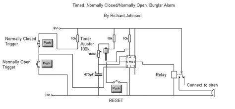 home alarm circuit diagram simple burglar alarm for school