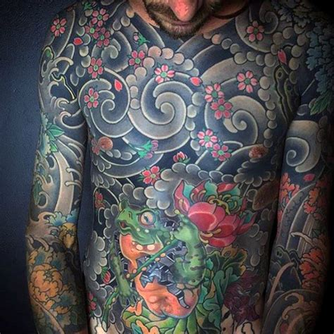 japanese cloud tattoo designs 50 japanese chest tattoos for masculine design ideas