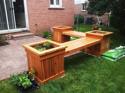 Outdoor Planter Bench by 25 Best Ideas About Planter Bench On Garden