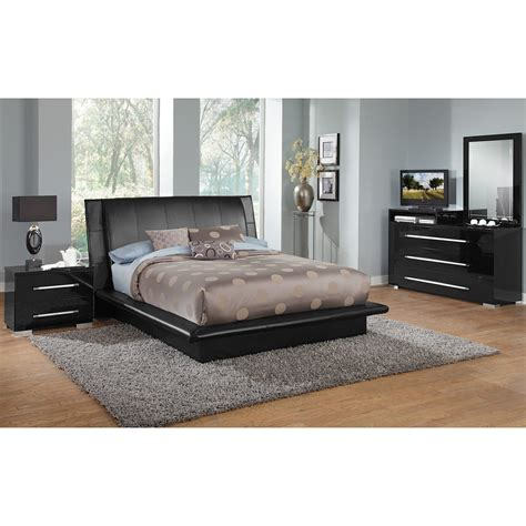 black queen bedroom sets dimora black queen bed value city furniture