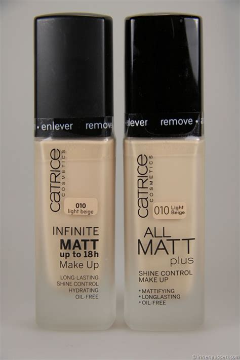 Catrice Infinite Matt Vergleich Mit Catrice All Matt Plus