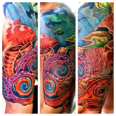 coral reef tattoo coral reef sleeve ink coral reefs and