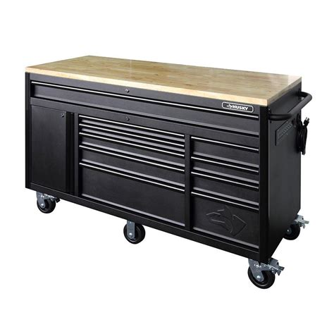 rolling tool bench the new husky tool chest rolling cabinet workbench combos garagespot