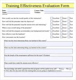 end of course evaluation template effectiveness evaluation form learning