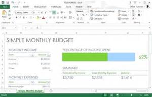 Simple Excel Budget Template Excel Budget Template For Monthly Planning