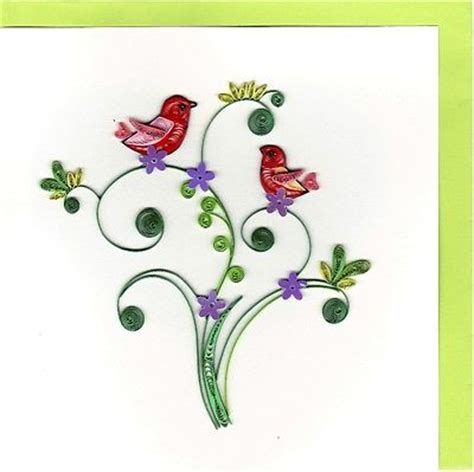 Quilling Paper Import paper quilling card birds collection on ebay