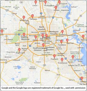 map of cities near houston houston map with suburbs