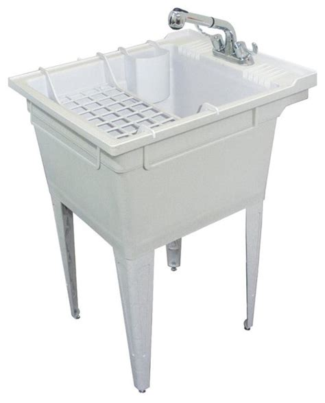 Laundry Room Sinks And Faucets Floor Mounted Laundry Sink With Faucet And Accessories Traditional Utility Room Sinks By