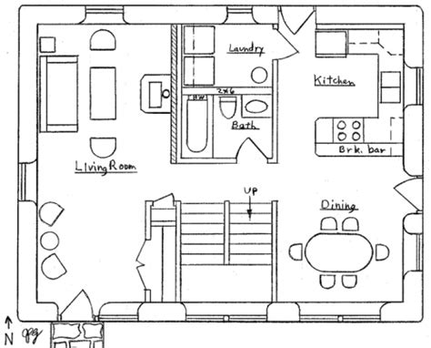small mountain cabin floor plans mountain cottage plan