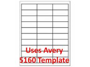 5160 Avery Labels Template by 5160 Template Laser Inkjet Labels 3 000 1 Quot X 2 5 8
