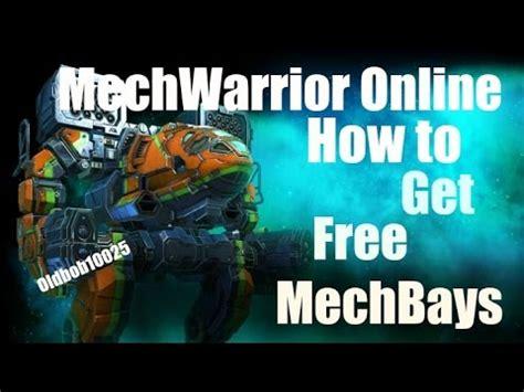 tutorial mechwarrior online mechwarrior online how to get free mechbays tutorial