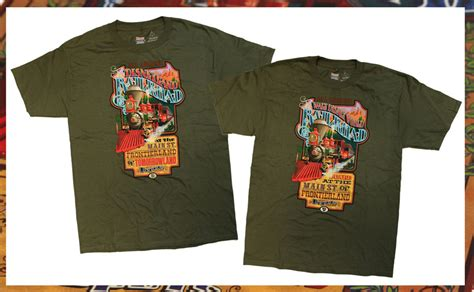 matching formal dinner menus gifts t shirts art all aboard with disney railroad t shirts coming to disney