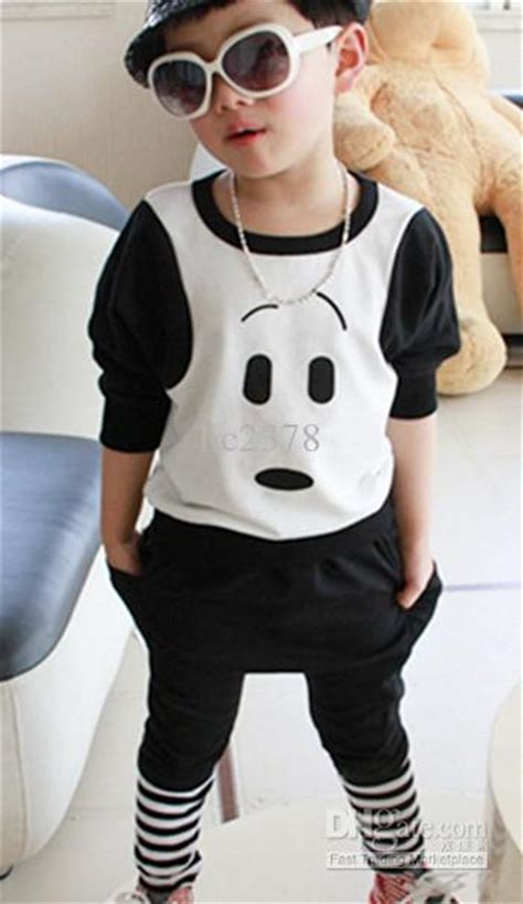 fashion clothes for 8 year old boy boys casual wear kids sportwear cartaoon outfits two color