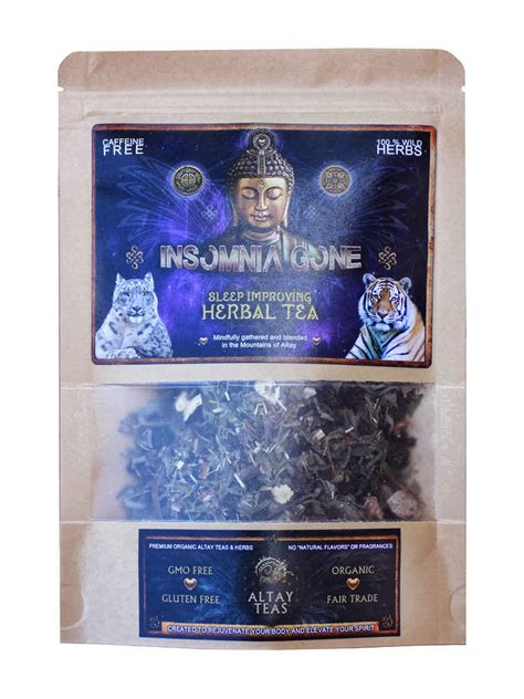Detox Tea Insomnia by Insomnia Unique Herbal Teas Of Altay