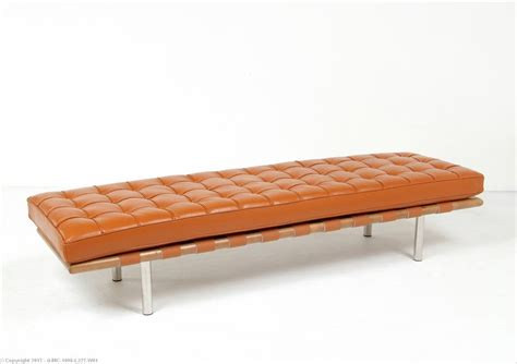 3 chair bench barcelona 3 seat bench honey tan leather mies van der rohe