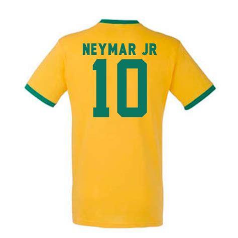 Kaos Gildan Neymar Nike neymar brazil ringer yellow ringyellow uksoccershop