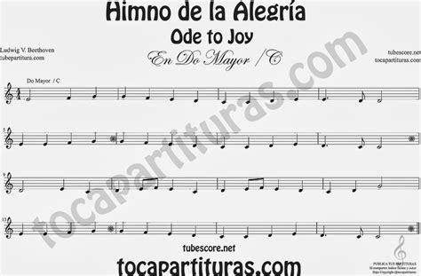ode to joy violin piano himno de la alegr 237 a himno de la alegria partitura f 225 cil en do mayor ode to joy sheet music for easy c jpg 1280 215 840