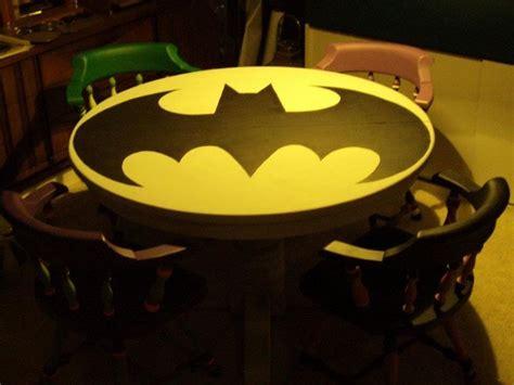 Batman Table And Chairs holy table batman 10 batman symbol tables riot daily