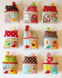 how to make fabric house ornaments step by step diy