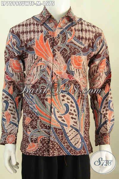 Hem Clasic Twis Atasan Baju Wanita kemeja batik pria pejabat hem batik tulis eksekutif berbahan halus model lengan panjang