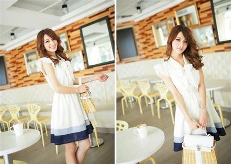 Dress Anak Import Pita Biru dress import pita cantik model terbaru jual murah import kerja