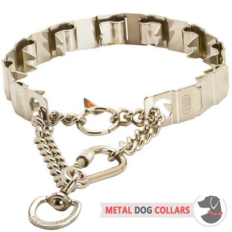 pet tech collar stainless steel neck tech pinch collar hs73 1091 50155 010 55 stainless steel