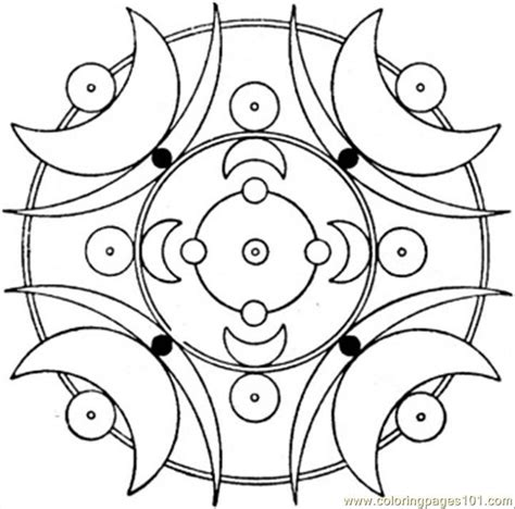 Art Deco With Moons Coloring Page Free Painting Coloring Deco Coloring Pages