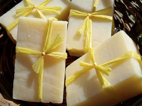 Handmade Lemon Soap - handmade soap simple lemon thyme clear soap factory