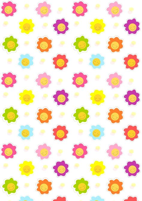 pattern for paper flower free digital smiling scrapbooking paper ausdruckbares